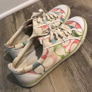 Coach multi colored C sneaker